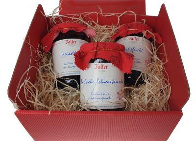 Marmelade - Konfitüre Geschenkset Probierset | 3 Teile | 990g