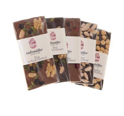 Schokoladentafel-Set - Zartbitter und Vollmilch Spezialitäten - 5-teilig