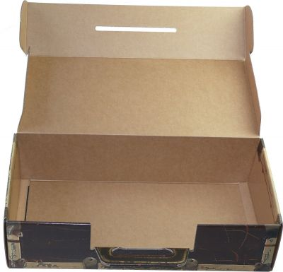 25 Stück | Trage Karton in Holzoptik