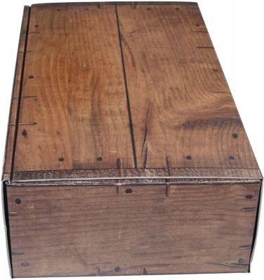 Schachtel in dunkler Holzoptik
