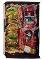 Dosenwurst und meeeeehr - toller Geschkorb mit Dosen, Schinken, Landjäger, Bauernwürste und Senf