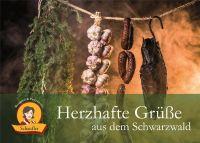 Grusskarte: Herzhafte Grüße aus dem Schwarzwald