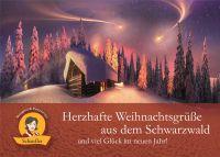 Grusskarte: Herzhafte WEIHNACHTS-Gr&uumlsse aus dem Schwarzwald